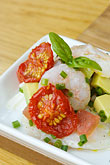 plate stock photography | Swedish food, Tomato and Shrimp appetizer, image id 5-700-5105