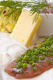 appetizer stock photography | Swedish food, Herring, cheese and onions, image id 5-700-5293