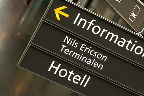 image 5-700-5821 Sweden, Goteborg, Train station sign