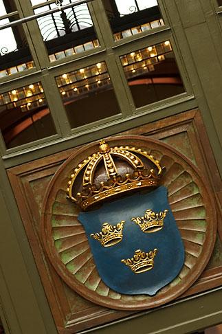 image 5-700-5830 Sweden, Goteborg, Train station, Swedish coat of arms