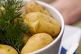 restaurant stock photography | Swedish food, Boiled Potatoes, image id 5-710-2406