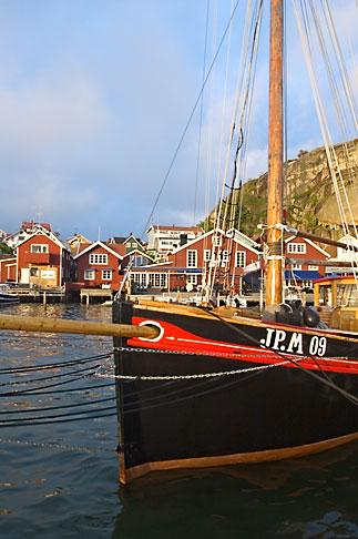 image 5-710-2432 Sweden, Fjallbacka, Fishing Boat in harbor