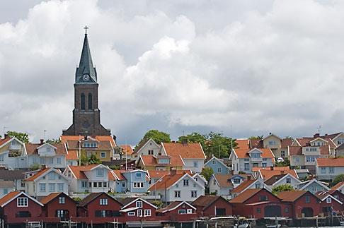 image 5-710-2496 Sweden, Fjallbacka, Church and village