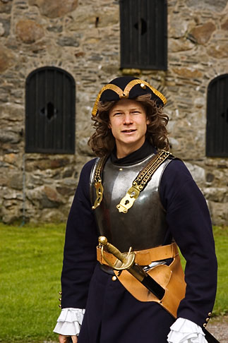 image 5-710-5388 Sweden, Marstrand, Carlsten Fortress, soldier and guide