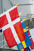 danish flag stock photography | Sweden, Marstrand, Flags, image id 5-710-5435