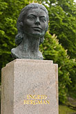 vertical stock photography | Sweden, Fjallbacka, Statue of Ingrid Bergman, image id 5-710-5511