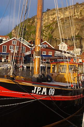 image 5-710-5520 Sweden, Fjallbacka, Fishing boat in harbor
