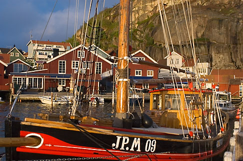 image 5-710-5524 Sweden, Fjallbacka, Fishing boat in harbor