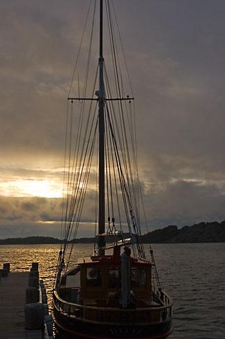 image 5-710-5529 Sweden, Fjallbacka, Fishing boat in harbor