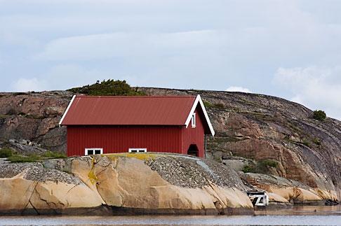 image 5-710-5533 Sweden, Fjallbacka, Boathouse