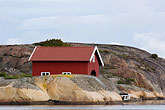 red rock stock photography | Sweden, Fjallbacka, Boathouse, image id 5-710-5533