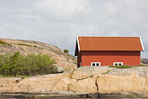 red rock stock photography | Sweden, Fjallbacka, Boathouse, image id 5-710-5591