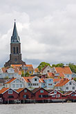 cloudy stock photography | Sweden, Fjallbacka, Village church, image id 5-710-5615