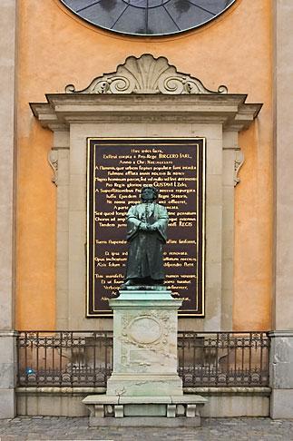 image 5-720-2624 Sweden, Stockholm, Gamla Stan, Statue of Gustav III
