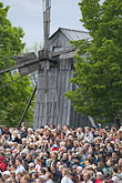 windmill stock photography | Sweden, Stockholm, National day crowd at Skansen, image id 5-720-2848