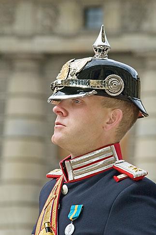 image 5-720-3158 Sweden, Stockholm, Band leader, Changing of the guard