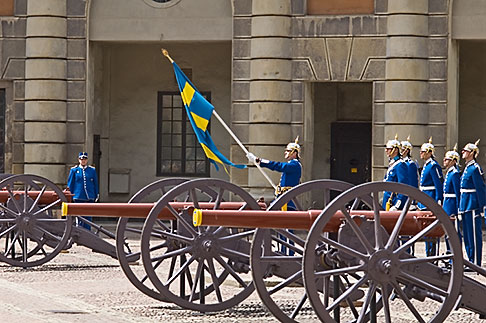 image 5-720-3226 Sweden, Stockholm, Changing of the guards