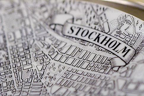 image 5-720-3275 Sweden, Stockholm, Old map of Stockholm