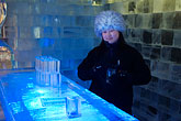 one person stock photography | Sweden, Stockholm, Nordic Light Hotel, Absolut Ice Bar, image id 5-720-3940