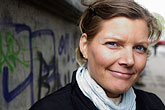 face stock photography | Sweden, Stockholm, Vendor at street fair, image id 5-720-4129