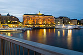 night stock photography | Sweden, Stockholm, Str�mbron Bridge, image id 5-720-4231