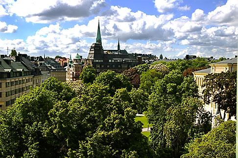 image 5-720-4293 Sweden, Stockholm, Humlegarden, from window of Lydmar Hotel