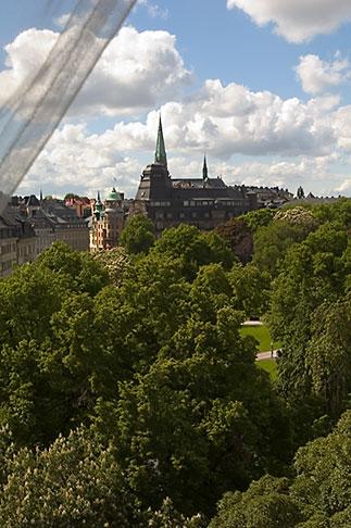 image 5-720-4297 Sweden, Stockholm, Humlegarden, from window of Lydmar Hotel