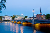 night stock photography | Sweden, Stockholm, Riddarholmen, image id 5-720-4385