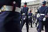 head covering stock photography | Sweden, Stockholm, Band, Changing of the guard, image id 5-720-6016
