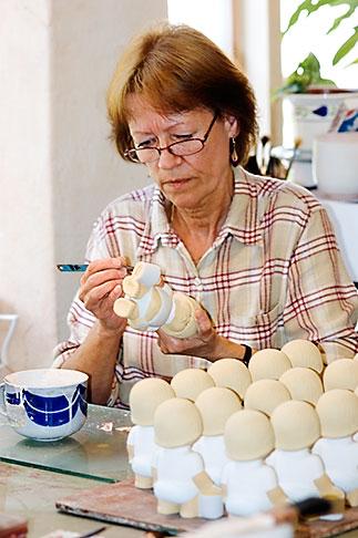 image 5-720-6743 Sweden, Gustavsberg, Artisan painting porcelain