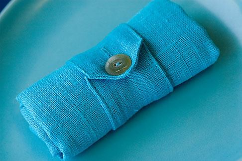 image 5-720-6809 Textiles, Blue cloth Napkin