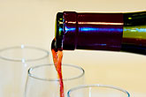fluid stock photography | Wine, Pouring red wine, image id 5-720-6866