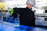 one person stock photography | Sweden, Stockholm, Absolut Ice Bar , image id 5-720-6888
