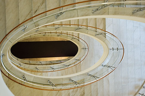 image 5-720-7030 Sweden, Stockholm, NK Department Store, stairway