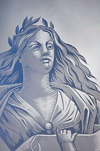 image 5-720-7068 Art, Etched Glass, goddess