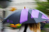 out of focus stock photography | Sweden, Stockholm, Umbrella in rain, image id 5-720-7107