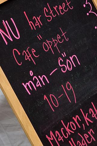 image 5-720-7139 Sweden, Chalkboard restaurant menu