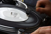 turntables stock photography | Sweden, Stockholm, Street Market, Deejay, image id 5-720-7172