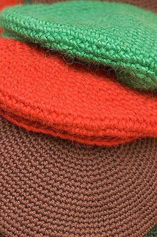 image 5-720-7266 Sweden, Stockholm, Street Market, Wool hats