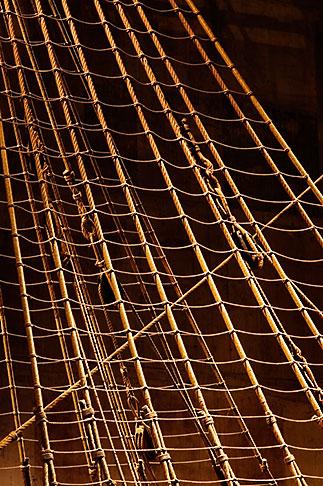 image 5-720-7357 Sweden, Stockholm, Vasa Ship Museum, rigging