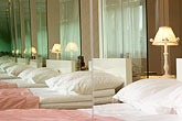 bed stock photography | Sweden, Stockholm, Lydmar Hotel, image id 5-720-7399