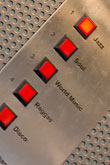 push button stock photography | Sweden, Stockholm, Lydmar Hotel, Music in Elevator, image id 5-720-7486
