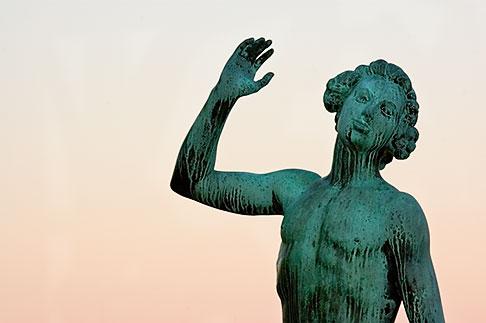 image 5-720-7844 Sweden, Stockholm, Song statue, Stadshuset, bronze by Carl Eldh