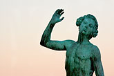 old stock photography | Sweden, Stockholm, Song statue, Stadshuset, bronze by Carl Eldh, image id 5-720-7844