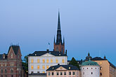 night stock photography | Sweden, Stockholm, Riddarholmen, image id 5-720-7889