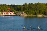 paddle boat stock photography | Sweden, Grinda Island, Kayaking, image id 5-730-3703