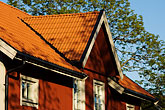gabled roof stock photography | Sweden, Grinda Island, Red summer house, image id 5-730-6225