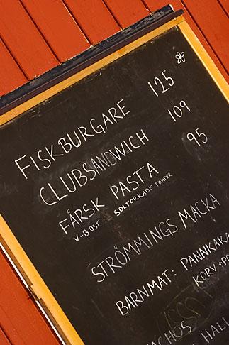 image 5-730-6536 Sweden, Chalkboard restaurant menu