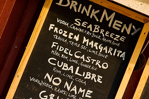 image 5-730-6539 Sweden, Chalkboard restaurant menu
