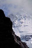 monch stock photography | Switzerland, Alps, M�nch glacier through the mist, image id 2-101-11